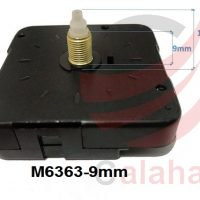 clock motor M6363 9mm 200x200 - موتور ساعت دیواری پایه بلند روانگرد 9mm
