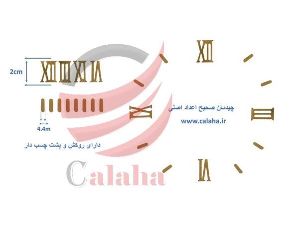اعداد اصلی ساعت دیواری یونانی