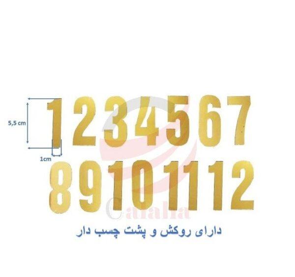 اعداد لاتین ساعت دیواری