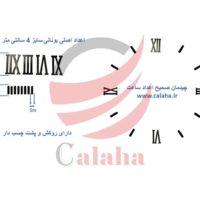adad asli yonani 4cm 200x200 - اعداد اصلی ساعت دیواری یونانی مشکی